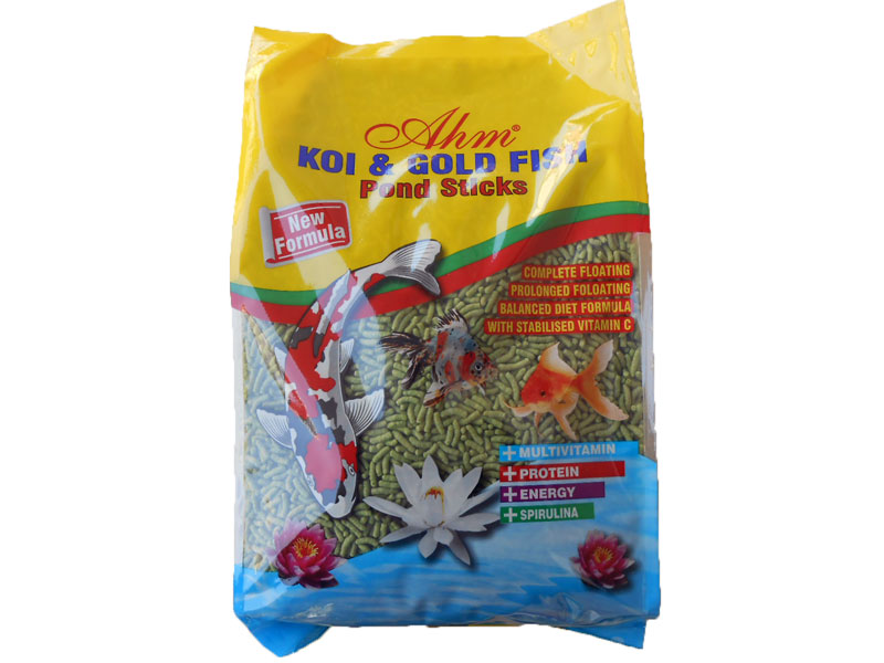 AHM KOİ GOLD FİSH NATURAL POND STİCKS 3 X 1 KG POŞET fotograf