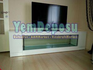 TELEVİZYON TV ÜNİTESİ MOBİLYALI AKVARYUM TV250 fotograf