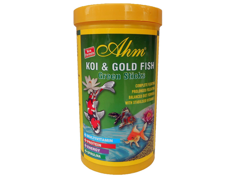 AHM KOİ & GOLD FİSH GREEN STİCKS 1000 ML KUTU fotograf