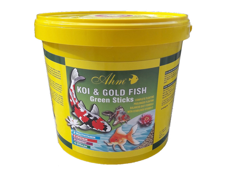 AHM KOİ & GOLD FİSH GREEN STİCKS 1500 GR KOVA fotograf