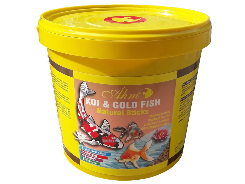 AHM KOİ GOLD FİSH NATURAL STİCKS 1500 GR KOVA fotograf