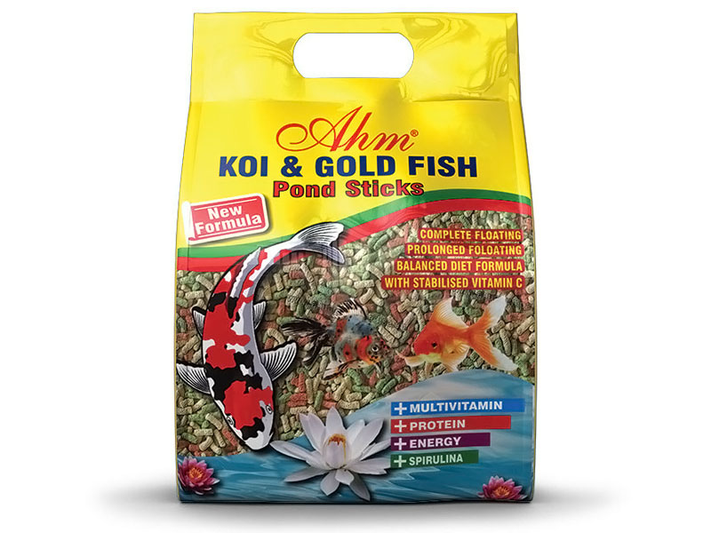 AHM KOİ GOLD FİSH MİX POND STİCKS 1 KG fotograf
