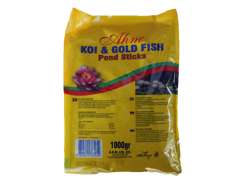AHM KOİ GOLD FİSH NATURAL POND STİCKS 3 X 1 KG POŞET