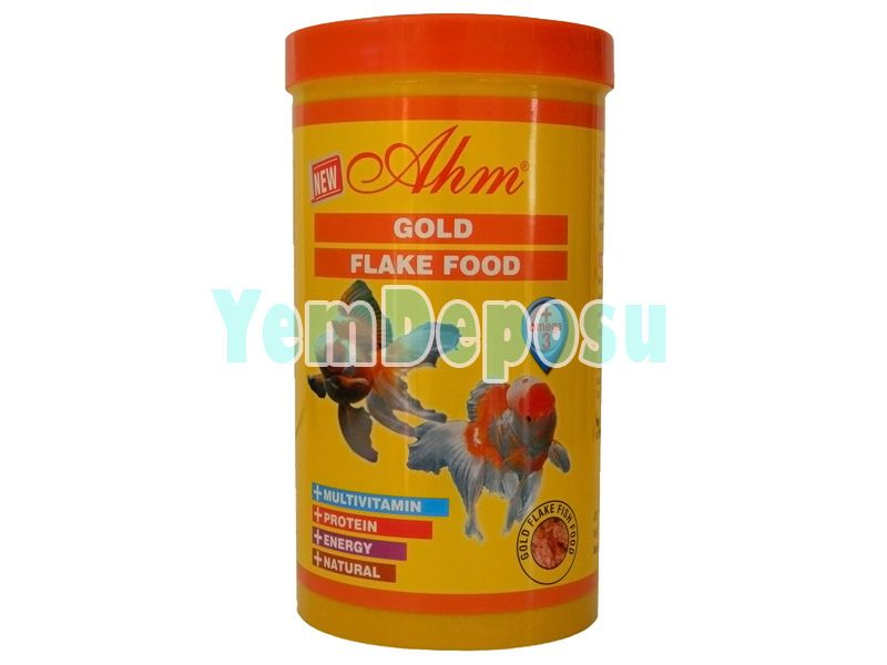 AHM GOLD FLAKE FOOD JAPON BALIK YEMİ 1000ML KUTU fotograf