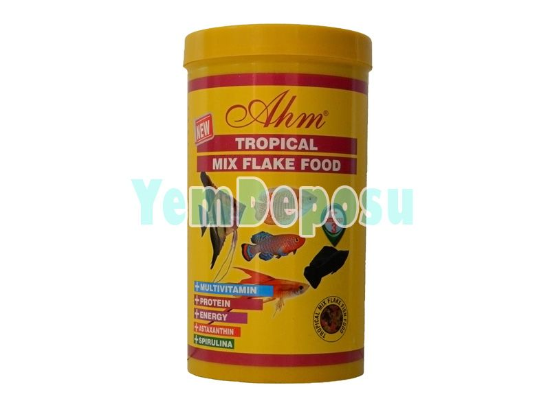 AHM TROPİCAL MİX FLAKE 1000 ML KUTU fotograf