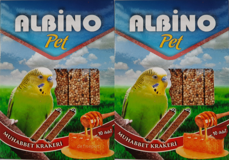 ALBİNO BALLI KUŞ KRAKERİ 2 X 10LU BOX