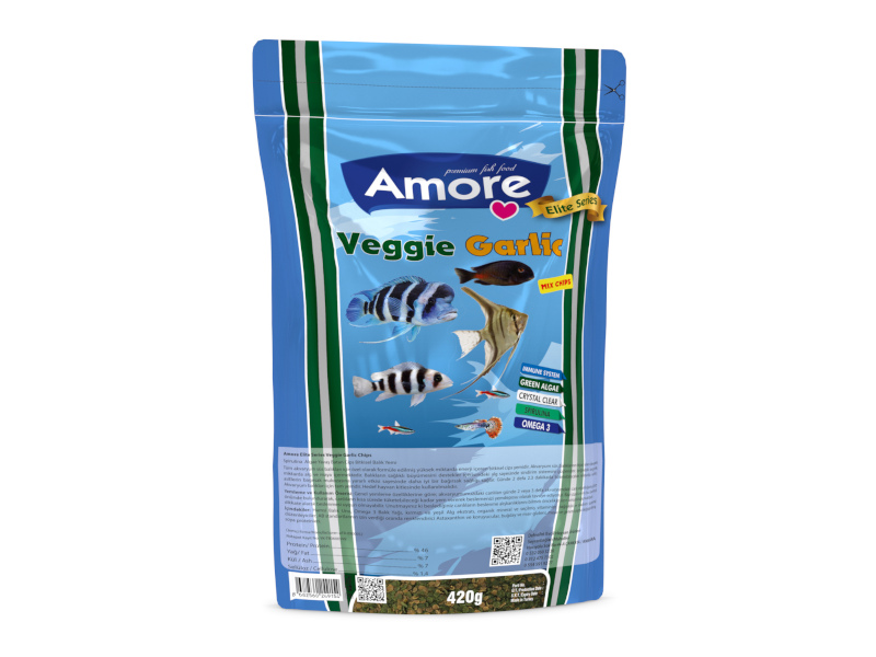 VEGGIE GARLIC MIX CHIPS 420GR ALGAE CLEAR IMMUNE PROTECT OMEGA-3 PRO CRİSPS BALIK YEMİ