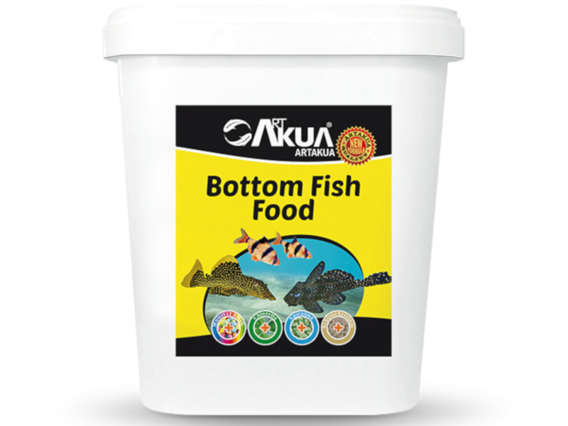 BOTTOM FISH FOOD 1000-1500 MICRON 1 KG AÇIK fotograf