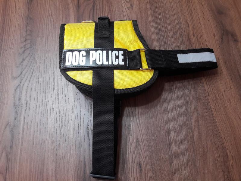 DOG POLICE KÖPEK TASMASI LARGE LİMON