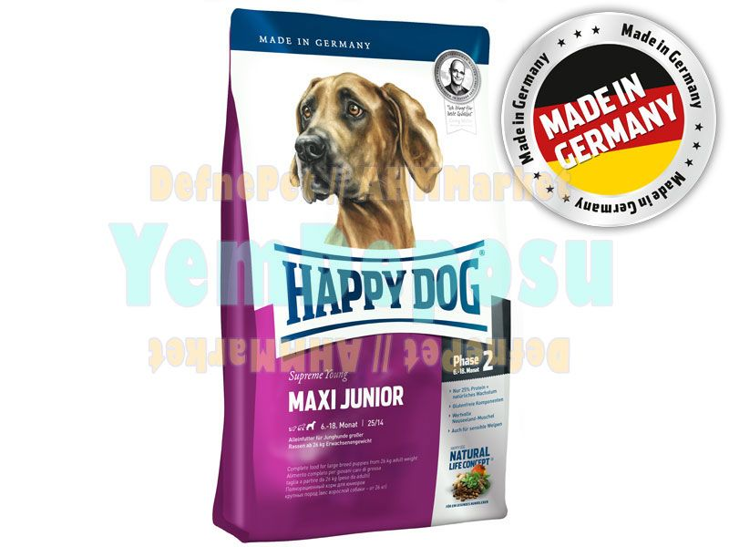 HAPPY DOG MAXİ JUNİOR KÖPEK MAMASI 4 KG fotograf