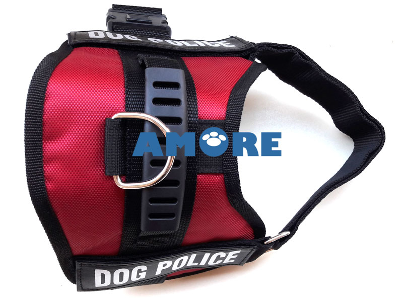 POLICE DOG KÖPEK GÖĞÜS TASMASI MEDIUM BORDO