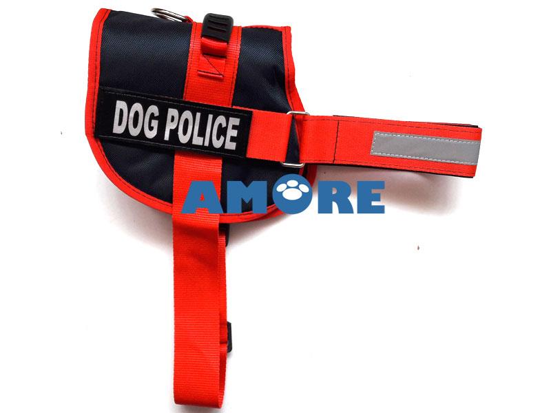 POLICE DOG KÖPEK GÖĞÜS TASMASI MEDIUM KIRMIZI