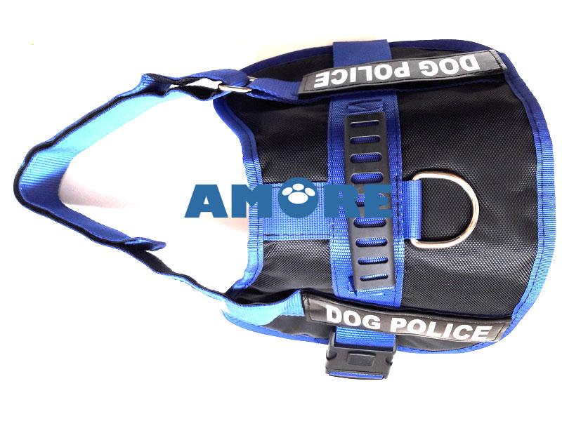 POLICE DOG KÖPEK GÖĞÜS TASMASI LARGE MAVİ