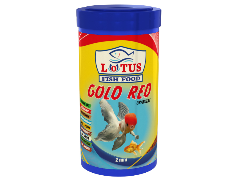 LOTUS GOLD RED GRANULAT ALGAE ASTAXANTHİN JAPON BALIĞI YEMİ 1000 ML fotograf