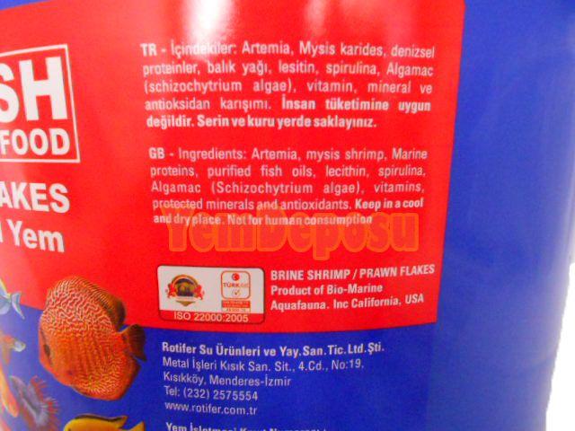 ROTIFISH ARTEMİA FLAKES 800 GR