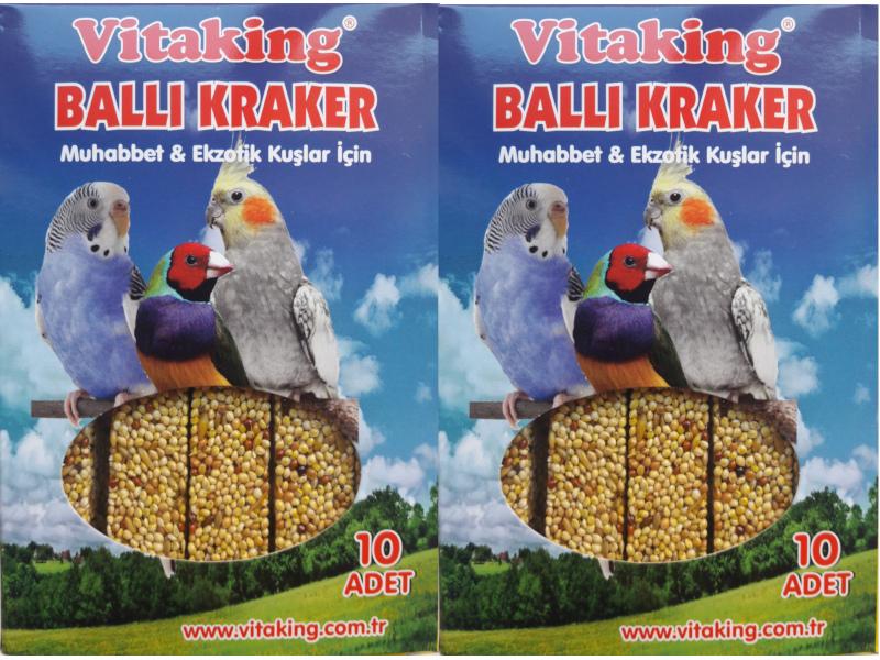 VİTAKİNG BALLI KRAKER 2 X 10 LU PAKET fotograf