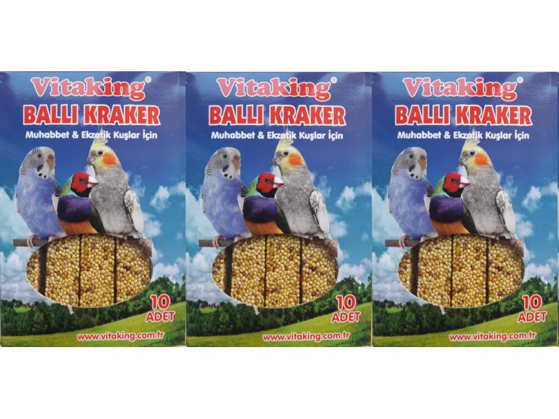 VİTAKİNG BALLI KRAKER 3 X 10 LU PAKET fotograf