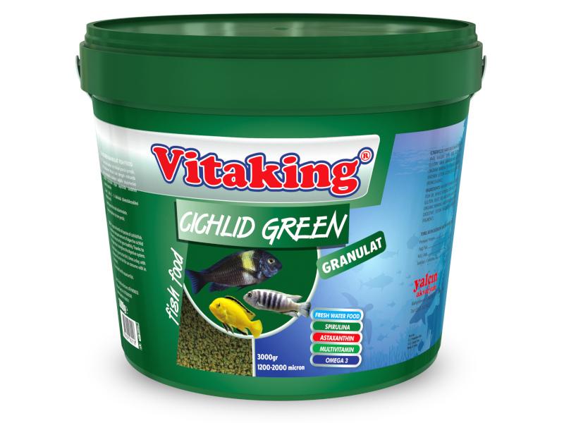 Cichlid Green Granulat 860g Açık fotograf