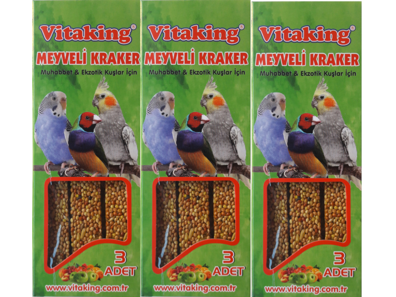 VİTAKİNG MEYVELİ KRAKER 3 PAKET fotograf